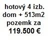 Hotový 4 izbový dom (105m2) na predaj